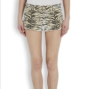 JUICY COUTURE TIGER STRIPES PRINT SHORTS 28
